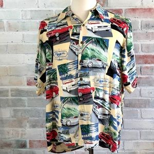 Reyn Spooner Ford Mustang Hawaiian Button Shirt